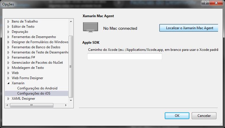 Botão de localizar um Mac Agent