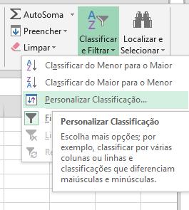 Personalizar Classificação