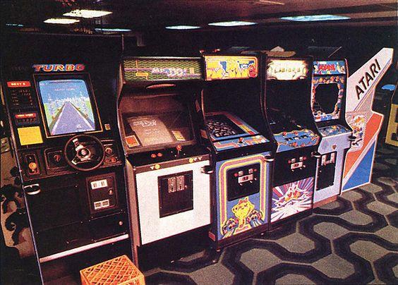 Fliperamas da década de 80