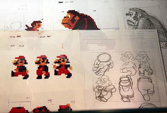Esboços do jogo Donkey Kong