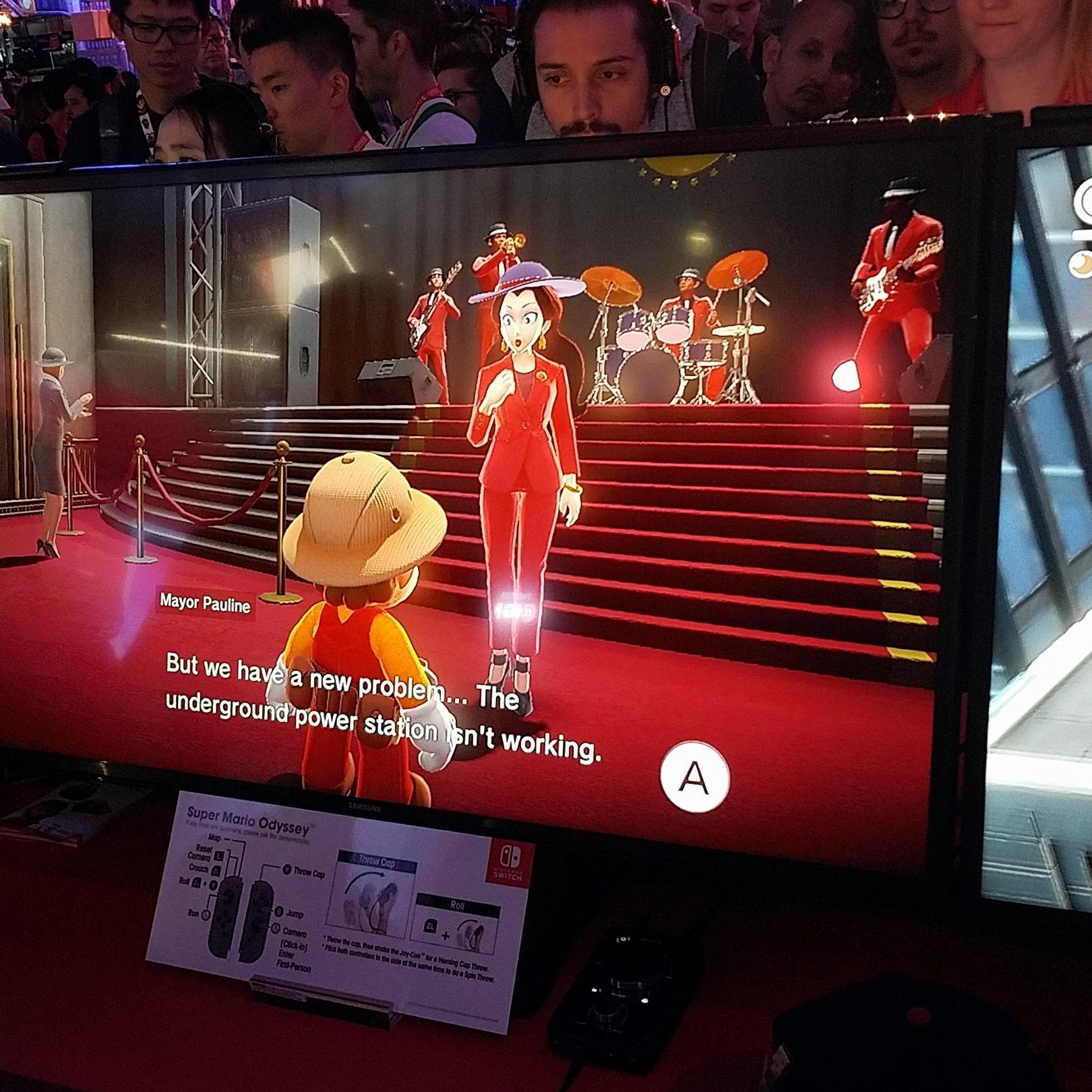 Pauline no Super Mario Odyssey