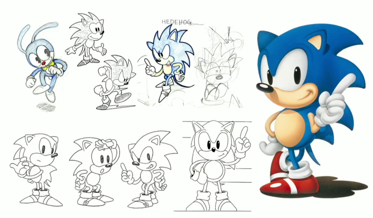 Esboços do Sonic