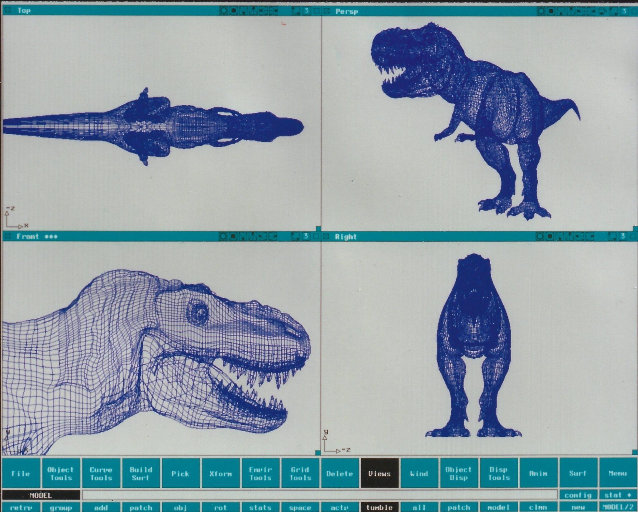 Modelo pré renderizado de um dinossauro