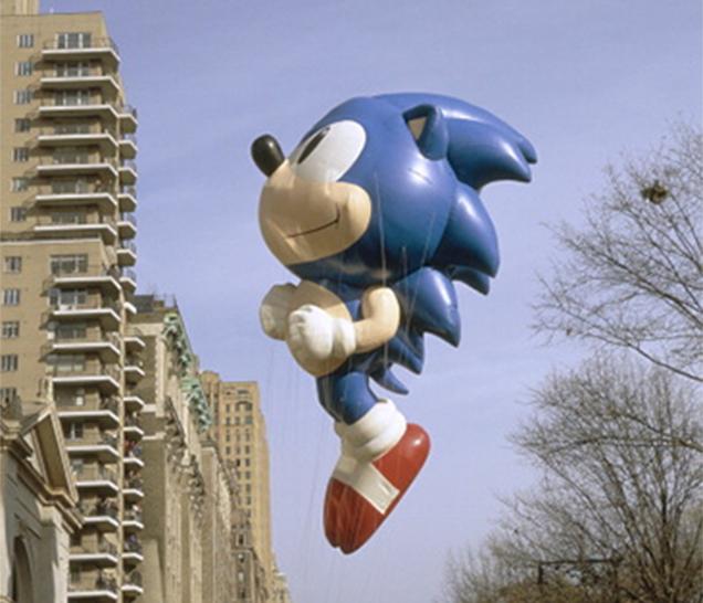 Balão do Sonic em uma parada norte americana