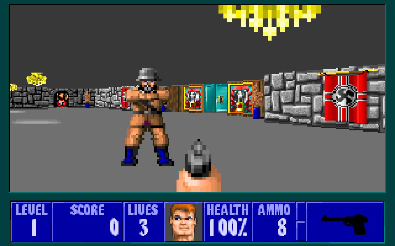 Wolfenstein 3D, sim eles gostavam de usar o