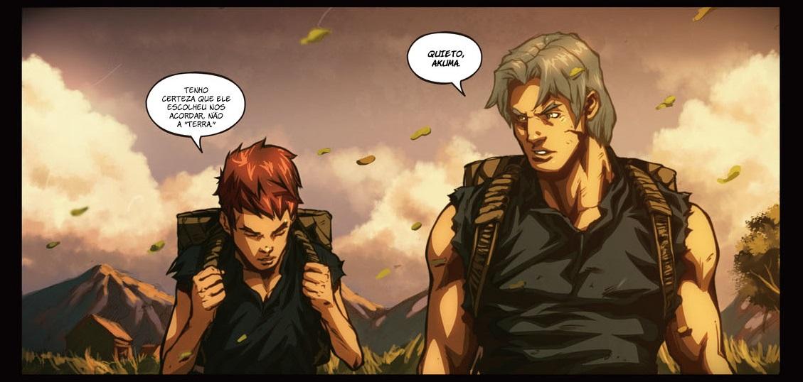 Akuma e Gouken quando ainda eram fazendeiros