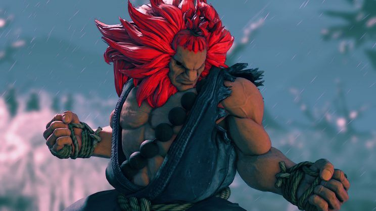 Akuma no Street Fighter 5 parecendo o Mufasa do Rei Leão rs