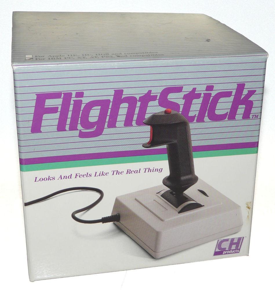 Controle antigo para jogos de avião, para o Apple 2 e IBM PC