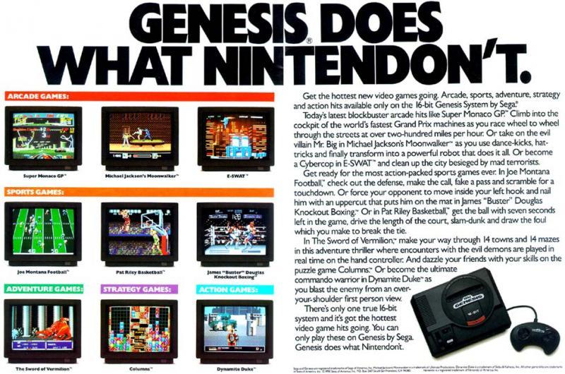 O Mega Drive faz o que a Nintendo não faz