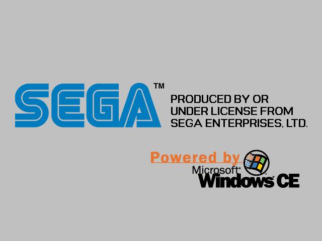 Jogos feitos com Windows CE no Dreamcast era mostrado uma frase ao carregar o game