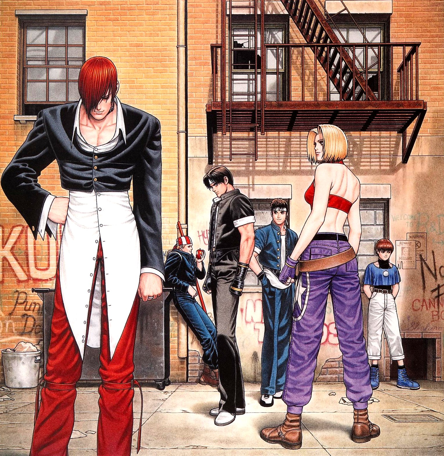A arte de The King Of Fighters 97
