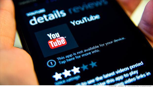 App YouTube feito pela Microsoft, indisponível para Download