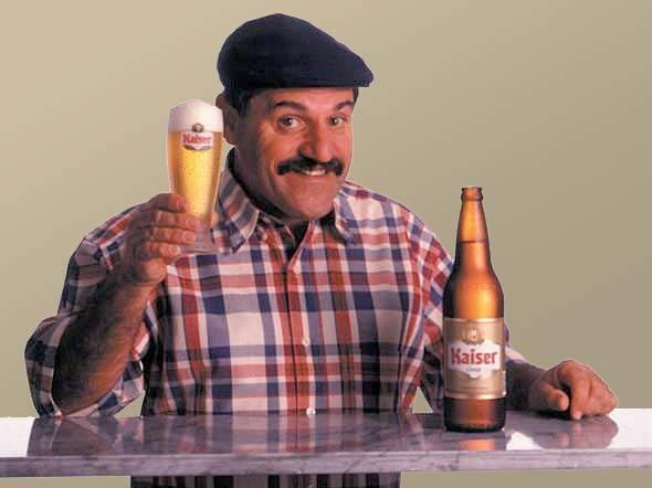 Kaiser, uma grande cerveja, a cerveja dos momentos felizes