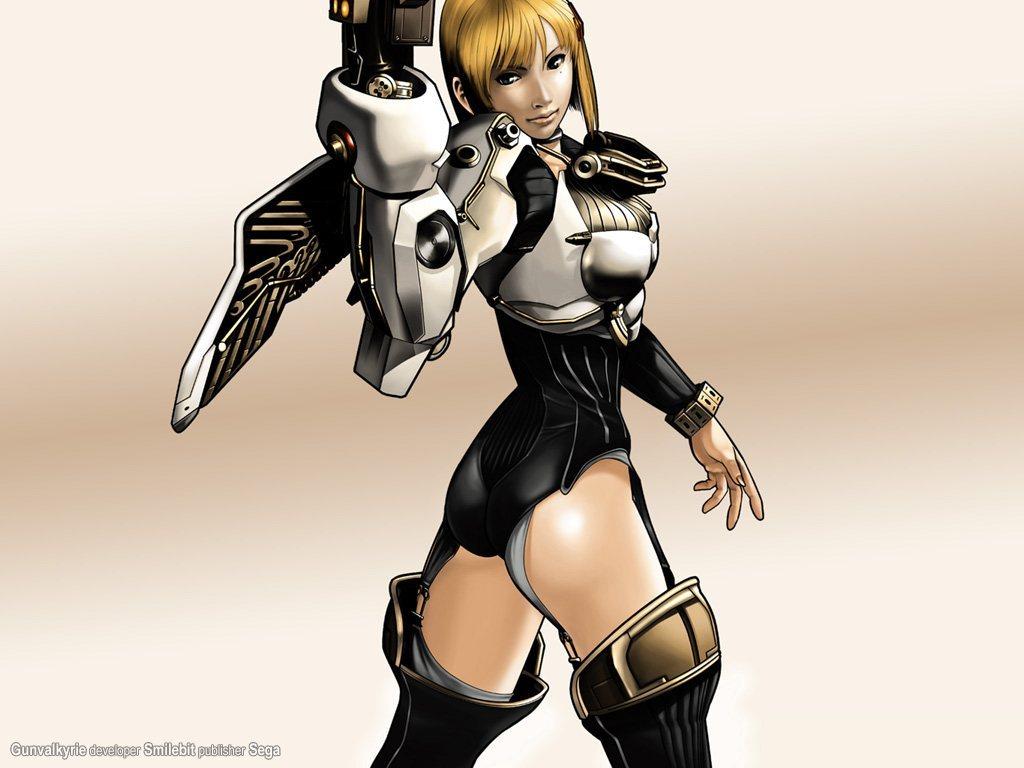 Gunvalkyrie, jogo originalmente planejado para o Dreamcast, mas lançado apenas par ao Xbox