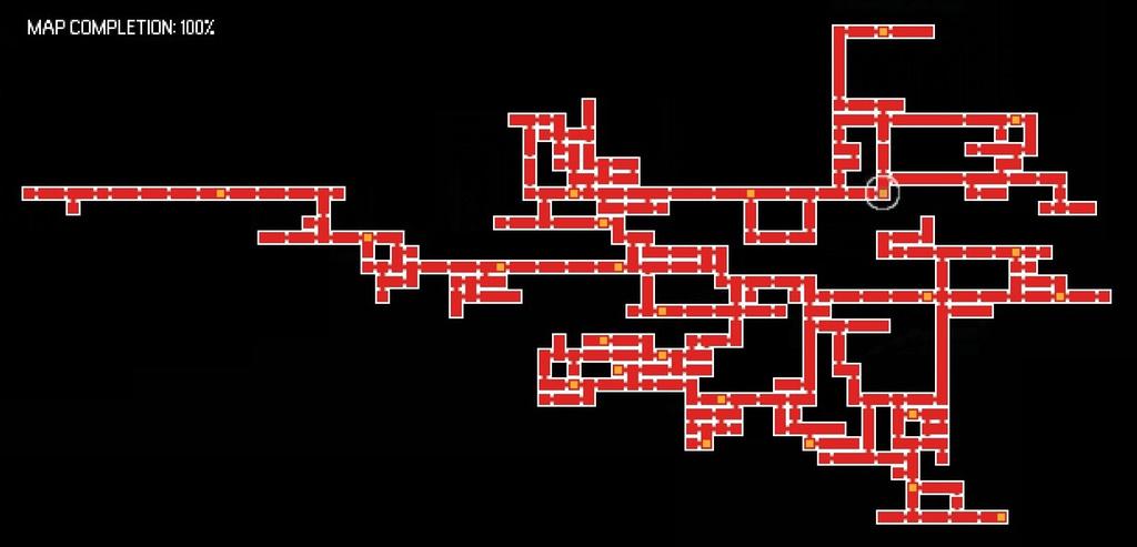 Mapa do jogo com 100%