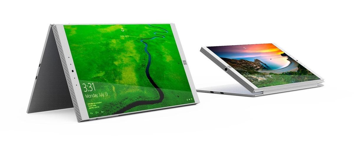 Conceito de tela dobrável para Surface Phone