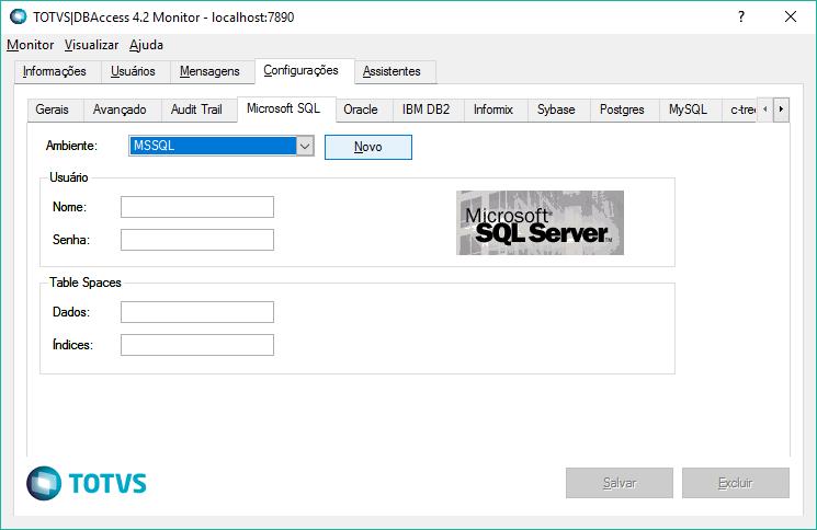 Aba referente a bancos SQL Server