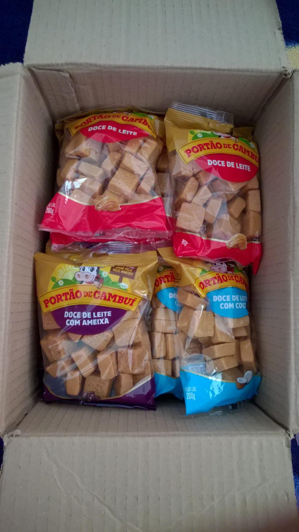Os doces na caixa