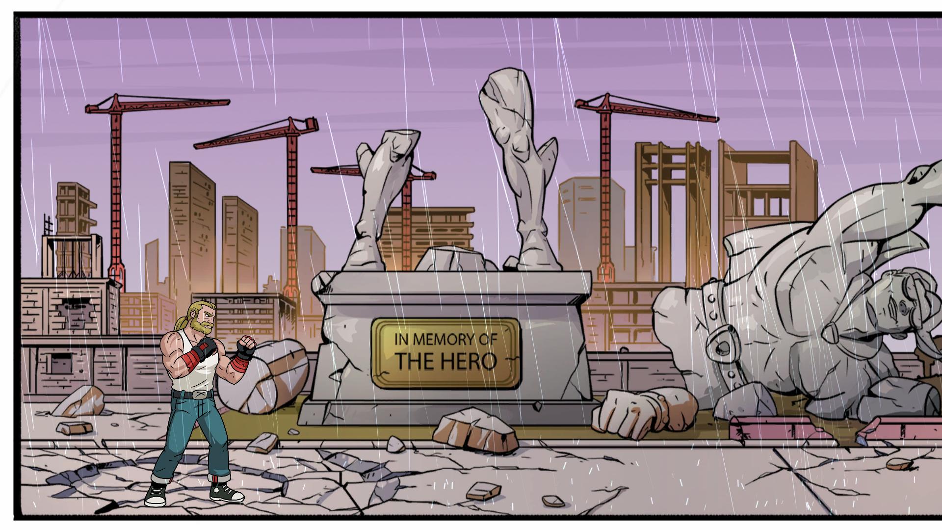 Estátua derrubada