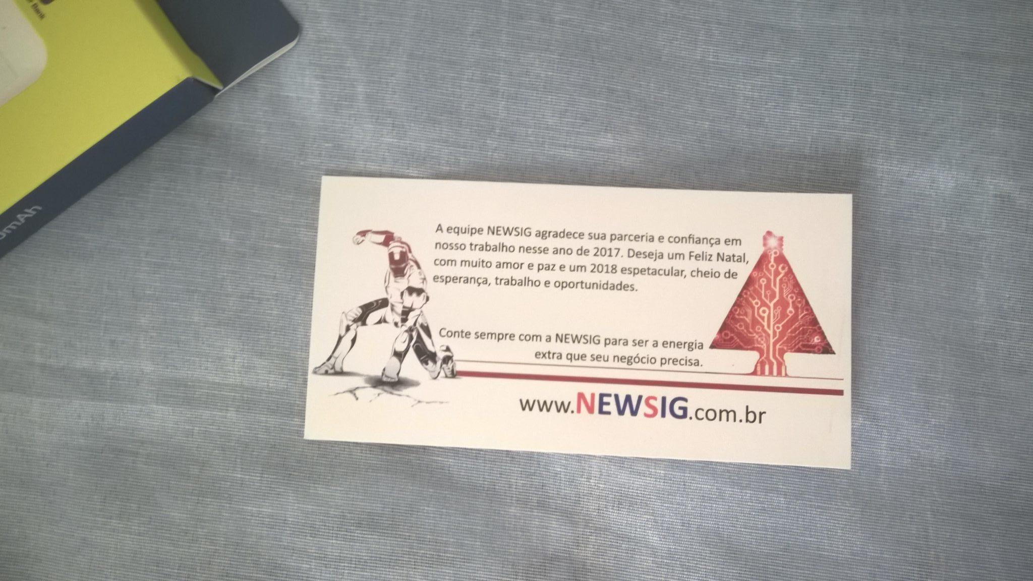 Cartão da NewSig