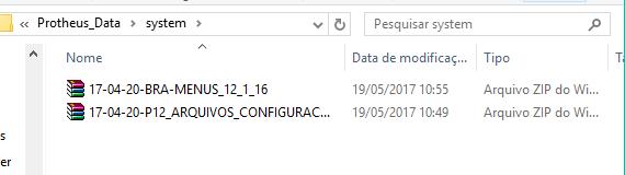 Colocando arquivos na system