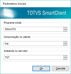 Acessando o configurador (SIGACFG)