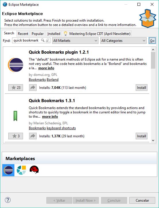 Plugin Quick Bookmarks