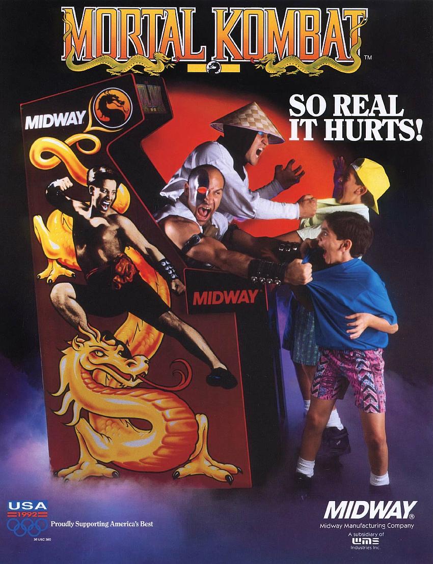 Propaganda do fliperama de Mortal Kombat