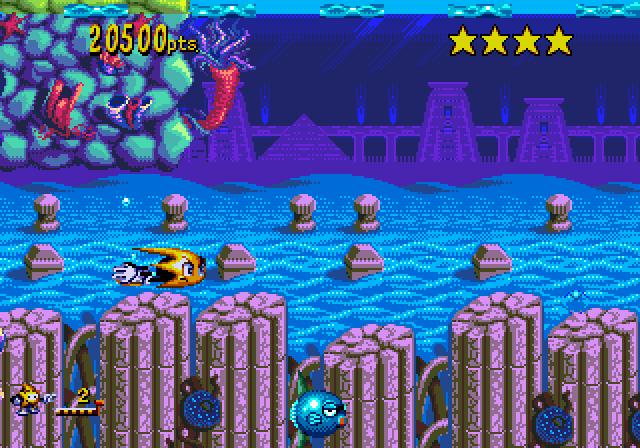 Ristar, um dos últimos games para Mega Drive, produzido pela Sonic Team