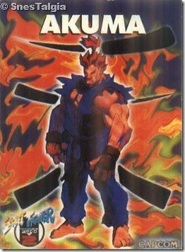 Card do Akuma do Street Fighter Alpha 2