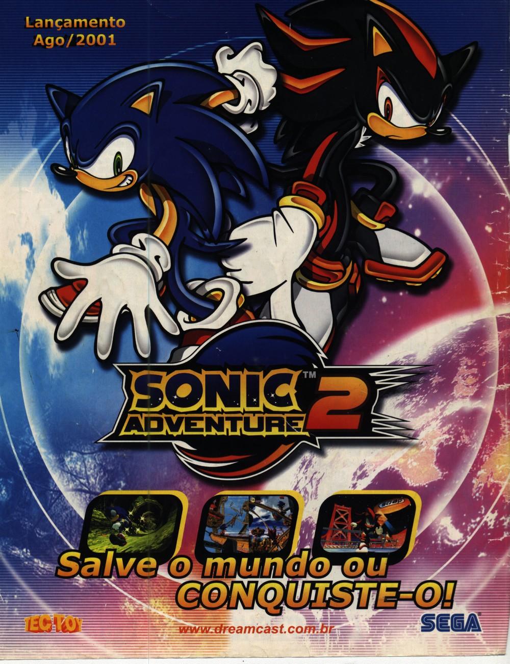 Propaganda da TecToy para Sonic Adventure 2, destaque para Shadow?