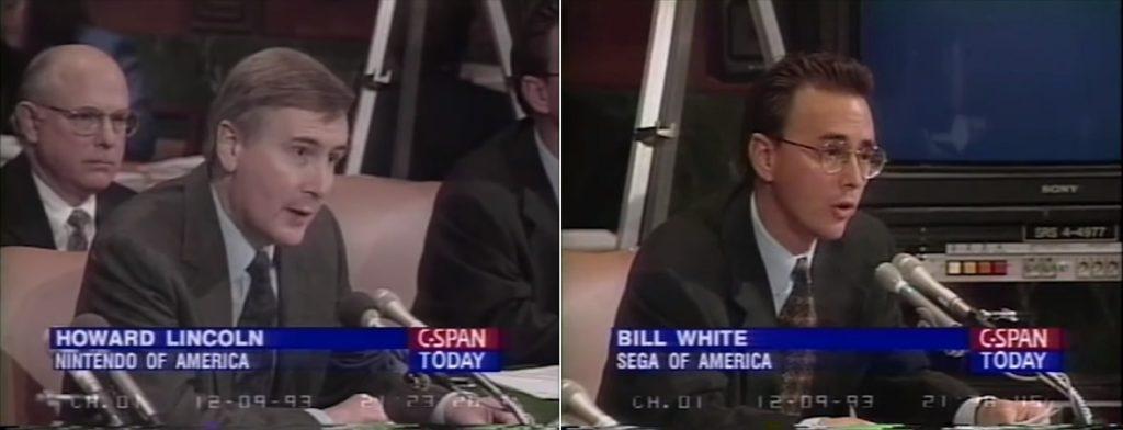 Lincoln (Nintendo) à esquerda e White (SEGA) à direita