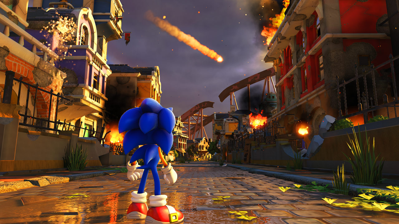 Olhem esse gráfico do Sonic Forces, tudo in game