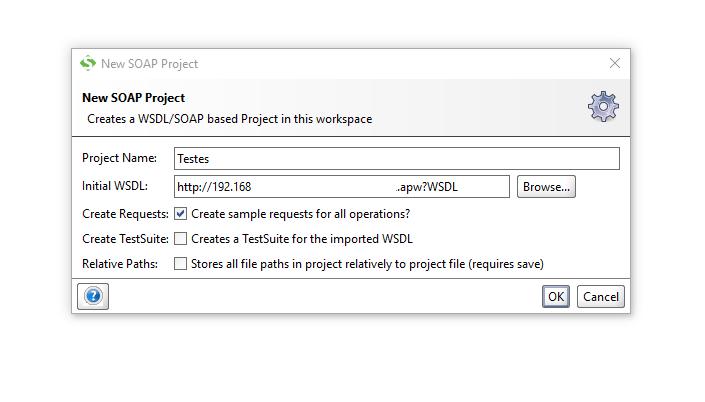 Inserindo detalhes do WebService