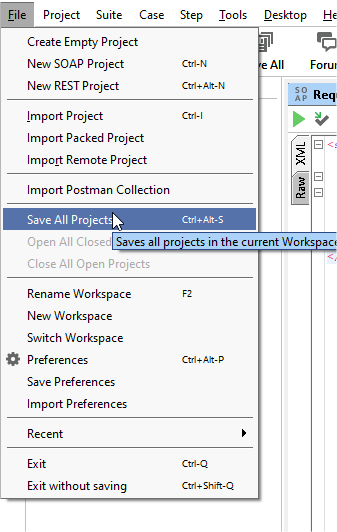 Salvando os projetos