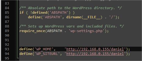Configurando no arquivo .ini