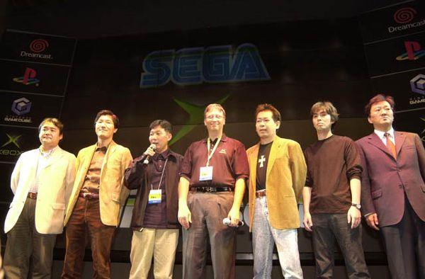 Bill Gates na TGS com a SEGA