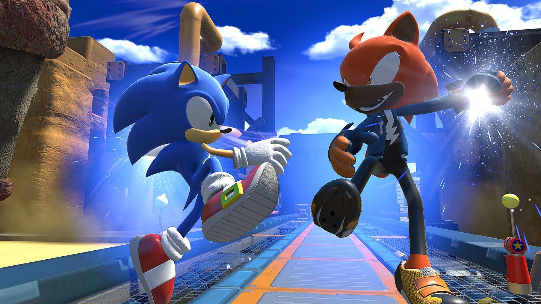 Rookie e Sonic preparando o boost em conjunto