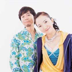 Masato Nakamura na esquerda, e Miwa Yoshida na direita, integrantes da Dreams Come True