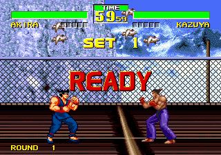 A mão do Akira (VF) ta maior que a cabeça do Kazuya (Tekken)