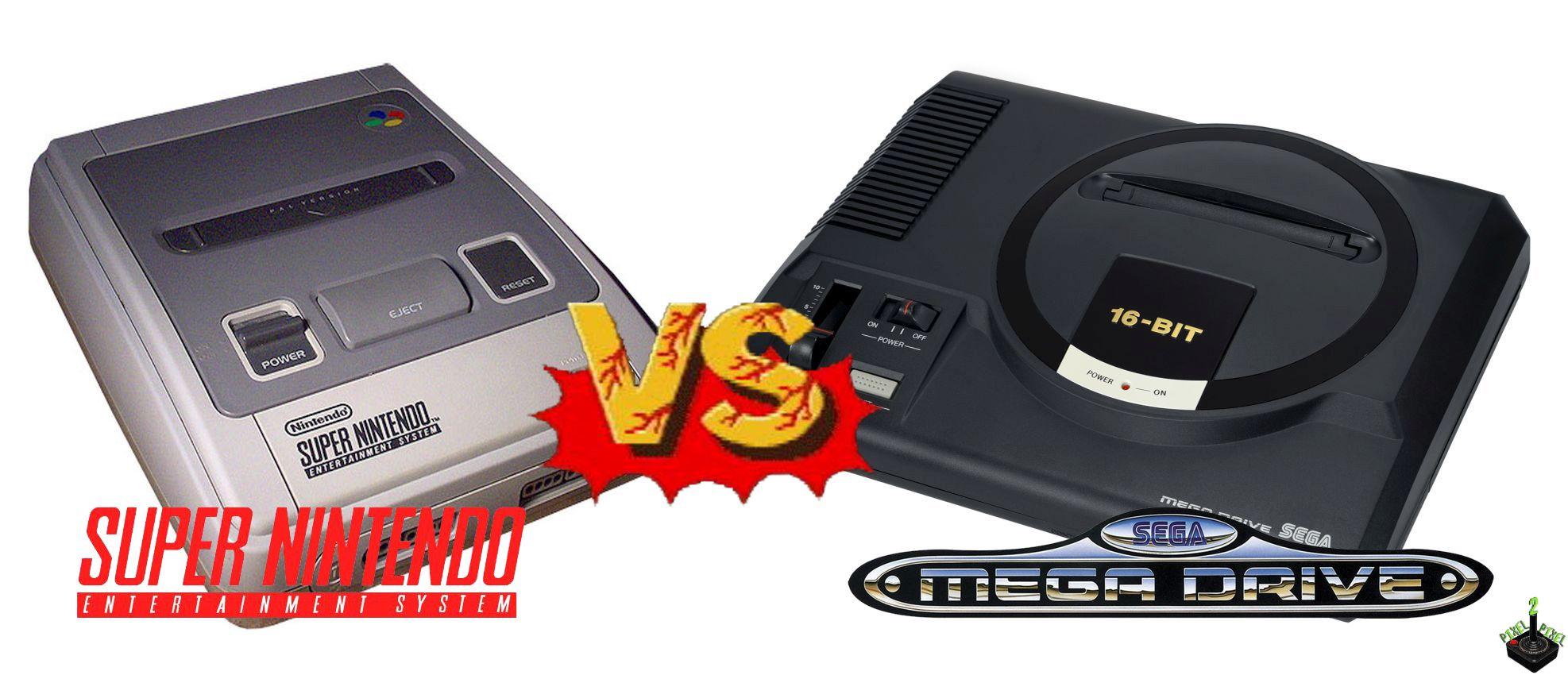 Época do Super Nintendo contra o Mega Drive