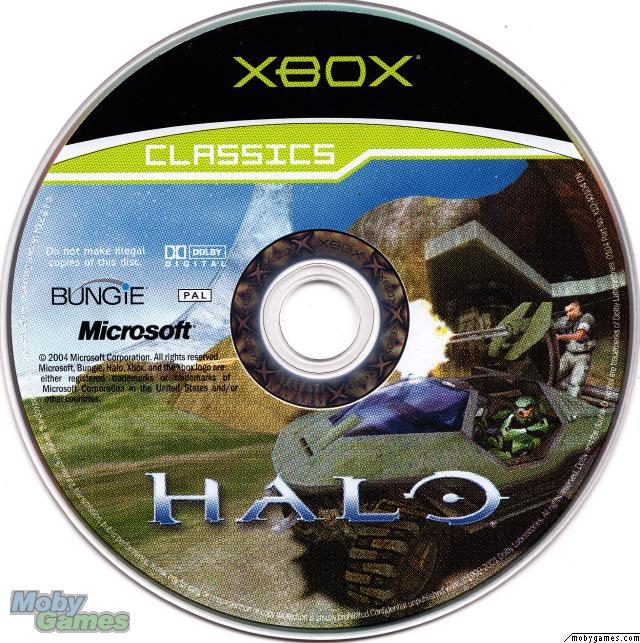 Exemplo de disco do primeiro Xbox