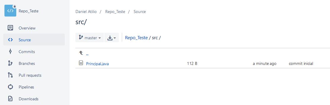 Verificando no BitBucket