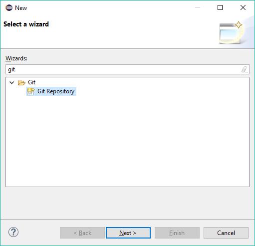 Opção Git Repository