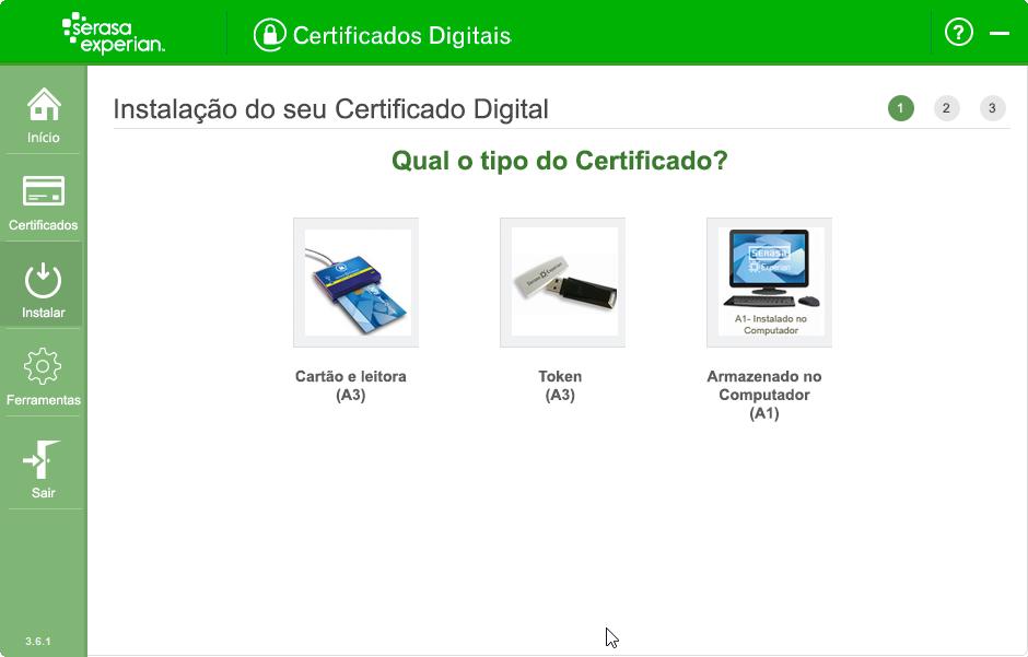 Tipo do Certificado