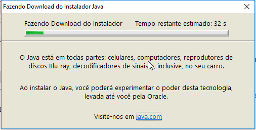 Instalação do Java