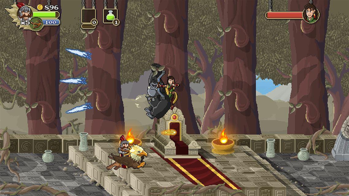 Chefe da fase da Floresta com o Arco e Flecha