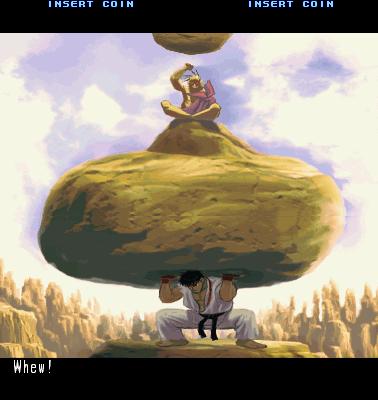 Ryu treinando com Oro