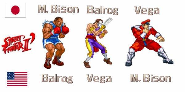 Nomes trocados dos personagens
