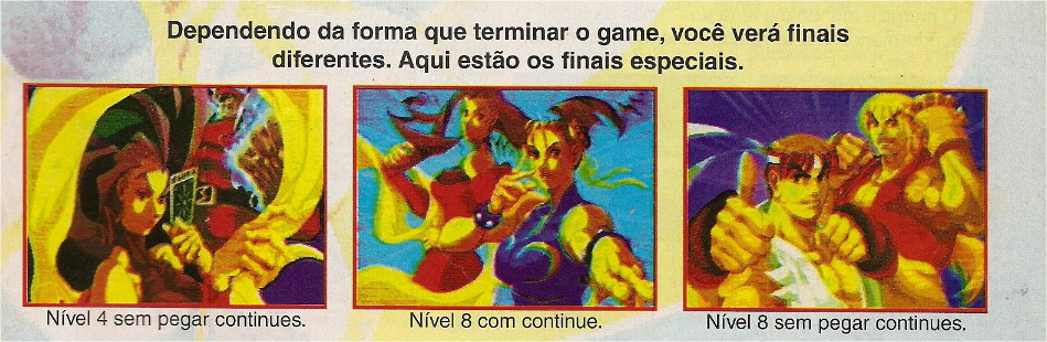 Imagens do Street Fighter Alpha na revista Gamers nº 07